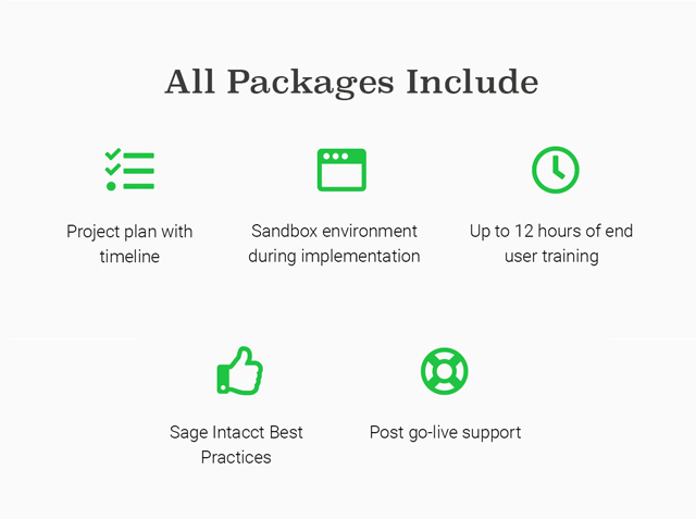 quick serve packages include